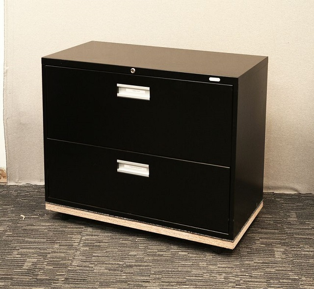 2 Drawer Lateral Filing Cabinet-Pro Source-Black