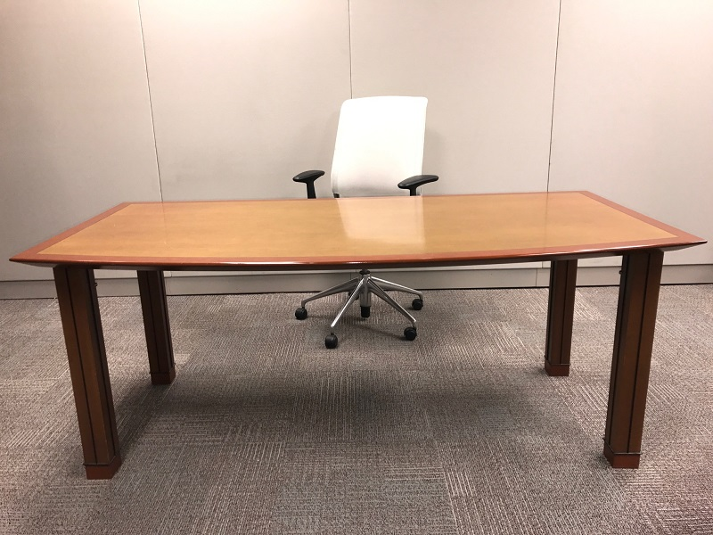 "high end 72""x36"" bow front desk $200.jpg"